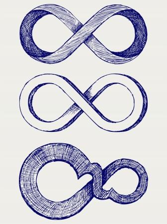 simbolo infinito: Infinito símbolo Vectores