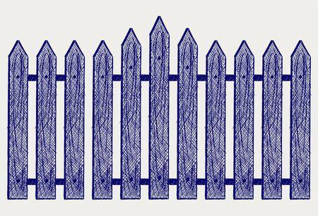 symbol fence: Wooden fence. Sketch