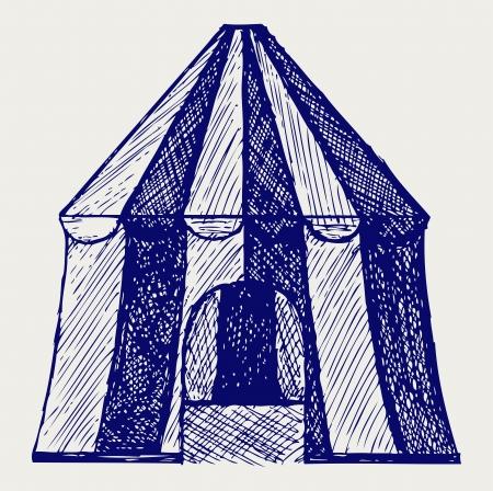 cirque: Circo tenda. Stile di Doodle