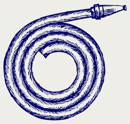 mangera: Fuego tubo. Estilo Doodle