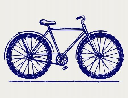 Bike. Doodle style Vector