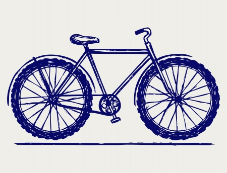 delineation: Bike. Doodle style