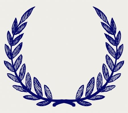 Vector laurel wreath. Doodle style Stock Vector - 15921530
