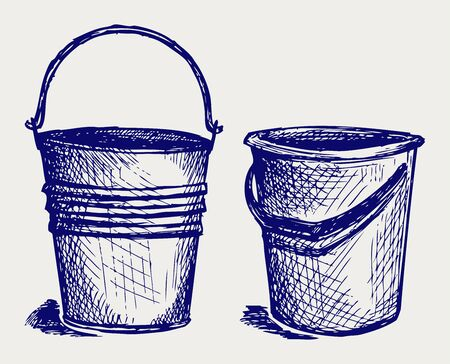 cooper: Illustration of bucket. Doodle style