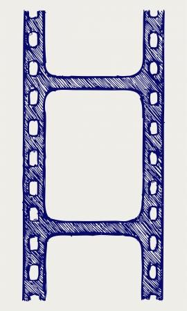 reel to reel: Film reel  Doodle style