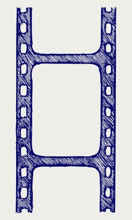 Film reel  Doodle style Stock Vector - 15921544