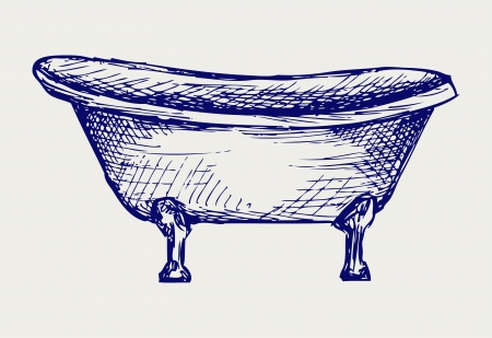 Close-up view of bath  Doodle style