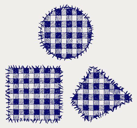 homespun: Definir el estilo patchwork Doodle
