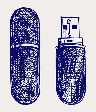 mb: Usb flash memory  Doodle style