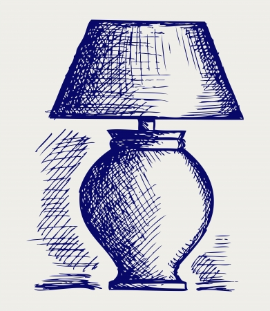 Lamp for the bedroom  Doodle style Stock Vector - 15921576