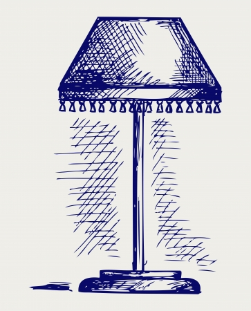 Lamp for the bedroom  Doodle style Vector