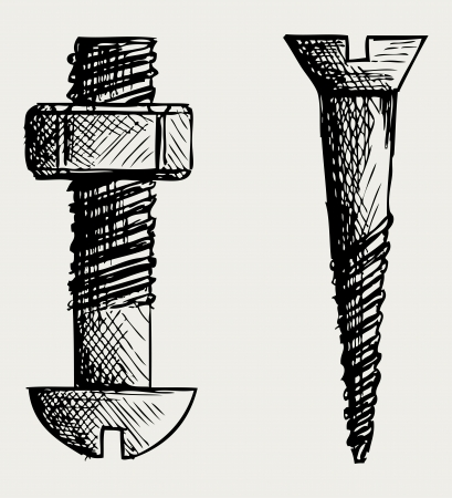 Screw. Doodle style Stock Vector - 15921546