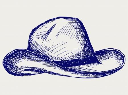 Cowboy Hut. Doodle-Stil