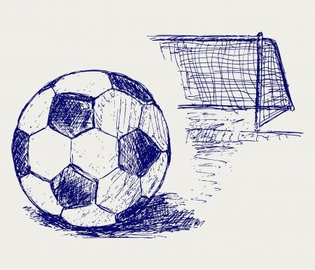Balón de fútbol Ilustración de vector