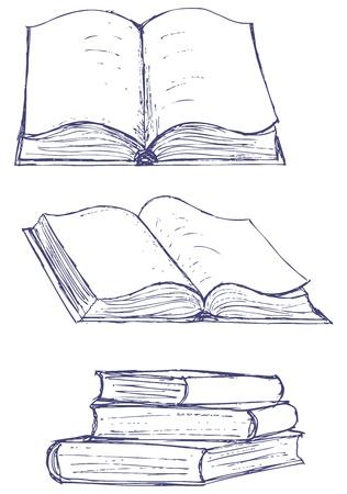 marcadores de libros: Ilustraci�n vectorial de libros aislados en el fondo blanco Vectores