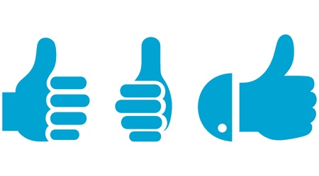 like button: Thumb Up. Set Illustration