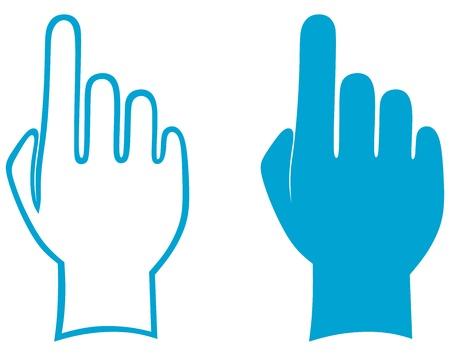 montrer du doigt: Mains. Vecteur Illustration