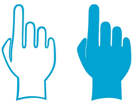pointing up: Mani. Vettore Vettoriali