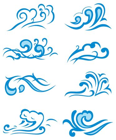 gale: Symbols waves Illustration