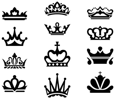 king crown: Crown collection. Vector