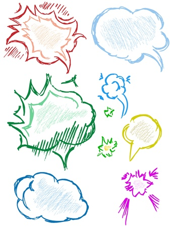 thought bubble: Hand drawn thought bubbles. Vector