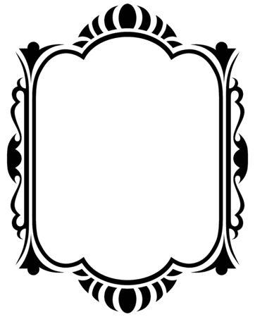 scroll border: Vintage design elements