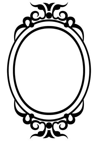mirror frame: Vintage design elements