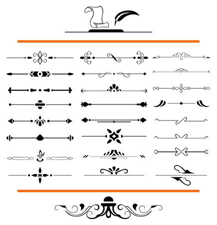 inlay: calligraphic design elements and page decoration - lots elements to embellish your layout