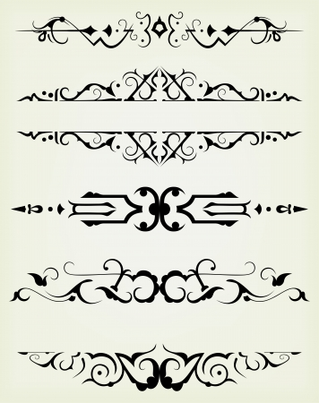 page divider: calligraphic design elements and page decoration - lots elements to embellish your layout