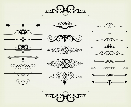 rule line: calligraphic design elements and page decoration - lots elements to embellish your layout
