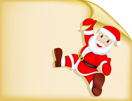 holiday invitation: Santa Claus - Blank