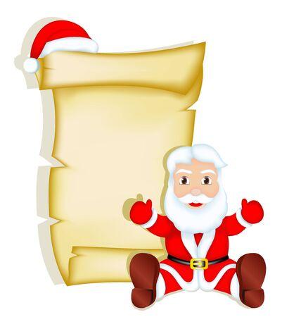 christmas menu: Santa Claus - Blank