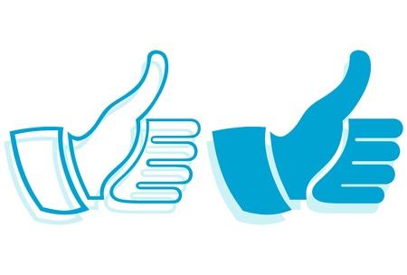 link up: Thumb Up. Set Illustration
