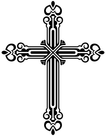 the catholic church: Religious cross design collection Illustration