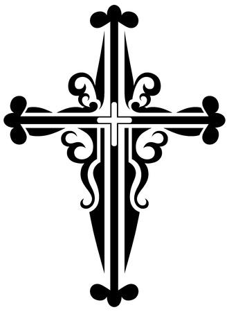 celtic art: Religious cross design collection Illustration