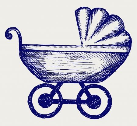 Pram. Doodle style
