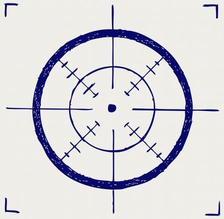 Crosshair. Doodle style Stock Vector - 16248567
