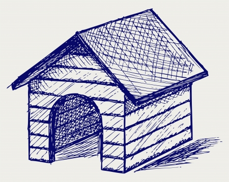 Dog House. Doodle style Stock Vector - 16248595