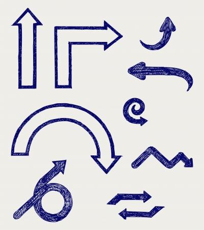 upward movements: Vector arrows. Sketch