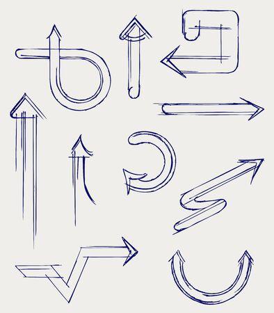 Vector arrows. Sketch Stock Vector - 16381536