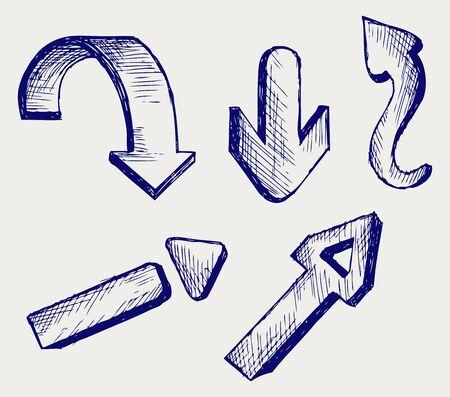 downwards: Vector arrows. Sketch