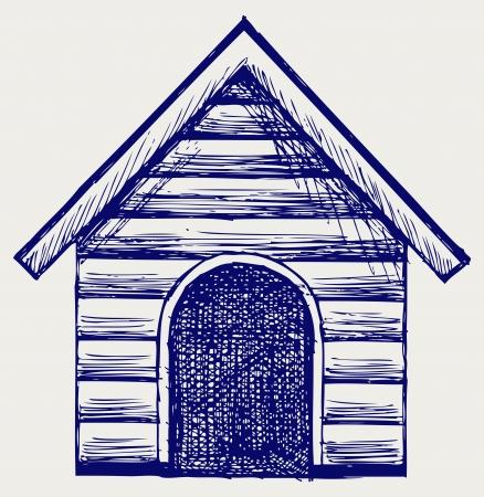 Dog House. Doodle style Stock Vector - 16381568