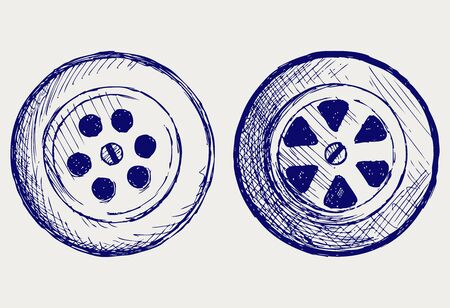 flush away: Drain hole. Doodle style