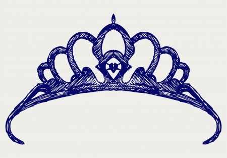 Crown. Doodle style Illustration