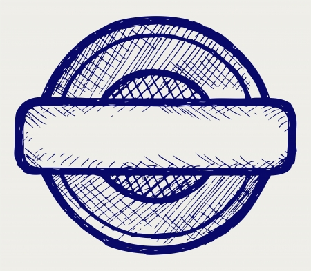 approve icon: Stamp. Doodle style