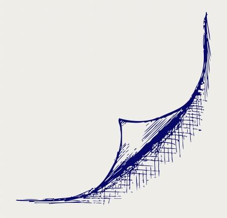 sketchy illustration: Page corner. Doodle style Illustration