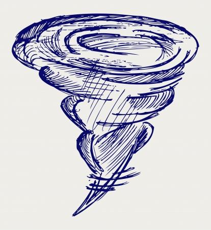 Tornado. Doodle style Stock Vector - 16381546