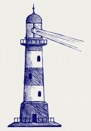 Lighthouse. Doodle style Stock Vector - 16381566