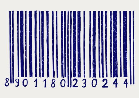 bar code: Barcode  Doodle style Illustration