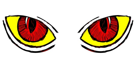 Wild cat eyes. Doodle style Stock Vector - 16509178